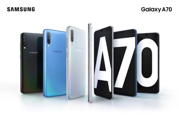 Samsung Galaxy A70 Ufficiale: notch a goccia, tripla fotocamera e batteria da 4.500 mAh