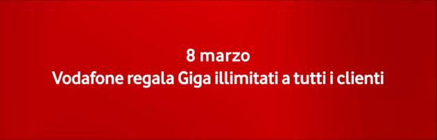 Vodafone: giga illimitati a tutti per la Festa della Donna