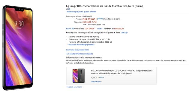 LG G7 ThinQ a 299 su Amazon è da comprare al volo