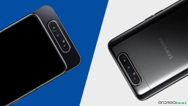Samsung Galaxy A80 e la tripla fotocamera rotante