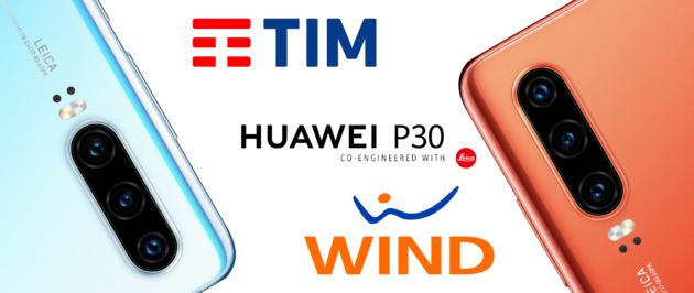 Huawei P30 in promozione a rate con TIM e WIND