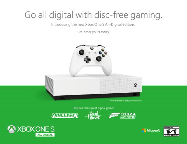 Xbox One S All-Digital Edition Ufficiale: dal 7 maggio a 299,99 Euro