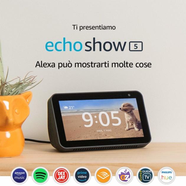 Amazon lancia ufficialmente Echo Show 5: dal 26 giugno in offerta a 89€