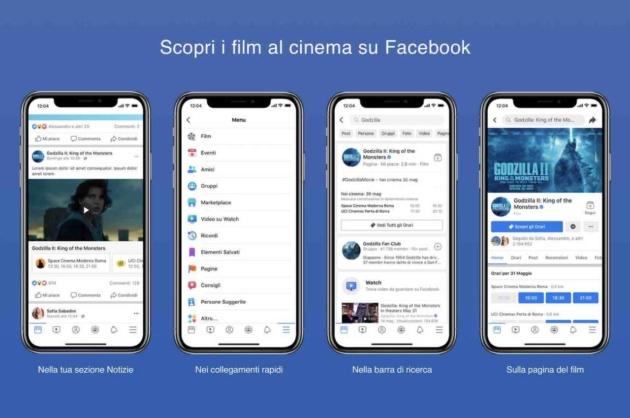Facebook annuncia la nuova sezione dedicata ai Film in Italia