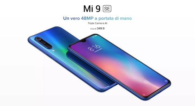Xiaomi Mi 9 SE arriva in Italia a 349 euro