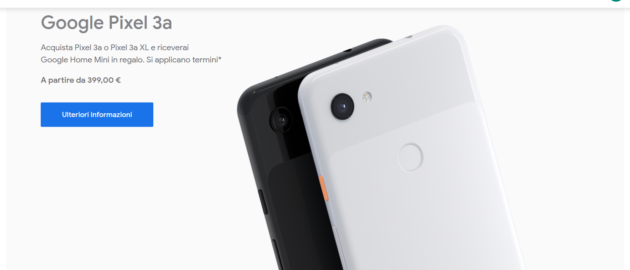 Google regala Home Mini con l'acquisto di un Pixel 3a o 3a XL
