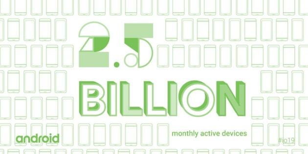 Sono oltre 2 miliardi e mezzo i dispositivi Android attualmente attivi [I/O 2019]