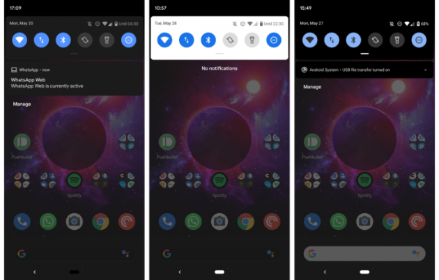 Android Q ha un'altra modalità scura nascosta e, per adesso, instabile