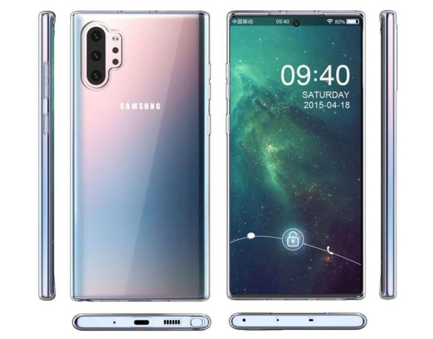 Samsung Galaxy Note 10 Plus: le immagini delle cover ne svelano il design