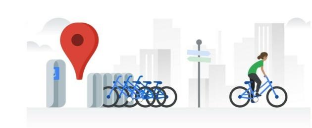 Google Maps: in arrivo le informazioni in tempo reale sul bike-sharing in 24 città