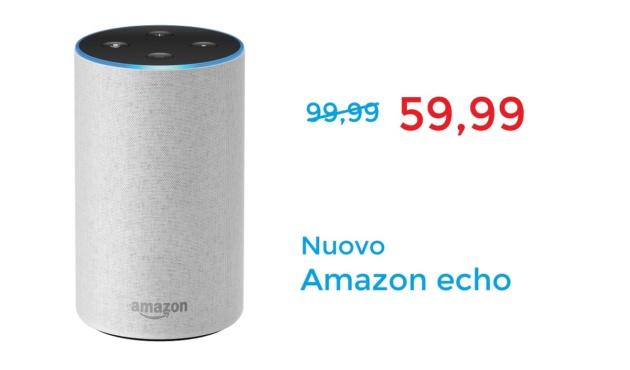 Amazon Echo in offerta a un prezzo mai visto