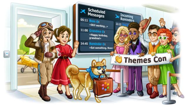 Telegram si aggiorna ancora con messaggi pianificati, temi cloud e molto altro