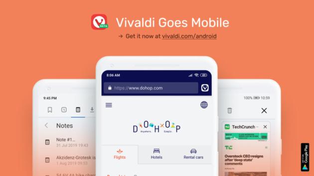 Vivaldi rilascia la Beta del suo browser per Android
