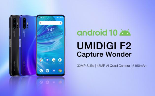 Umidigi F2 pronto al rilascio: quadrupla fotocamera, Android 10 e batteria da 5150mAh