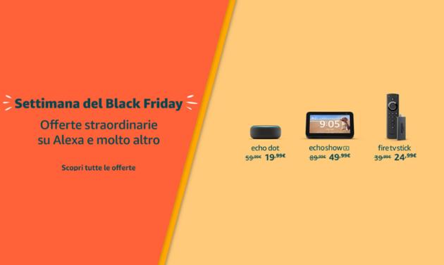 Amazon Black Week: tutti i dispositivi Amazon in sconto e quali scegliere