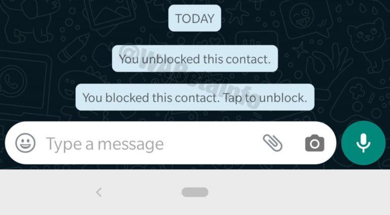 WhatsApp, in arrivo categorie e notifiche per i contatti bloccati (2)