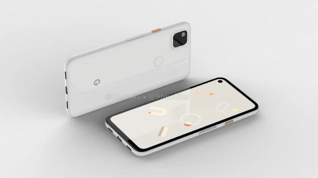 Google Pixel 4a: il rendering mostra un foro nel display ed un design familiare