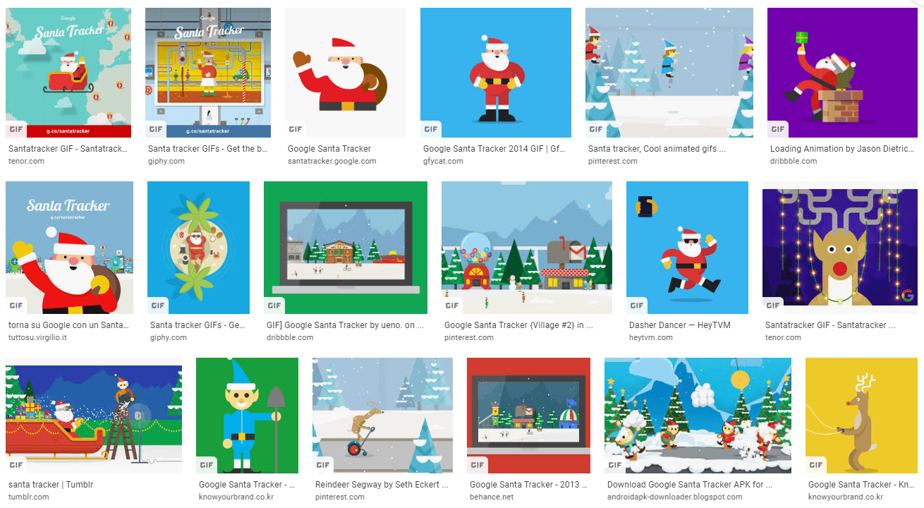 google gif santatracker