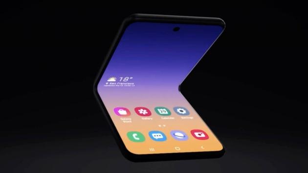 Samsung Galaxy Z potrà essere piegato in due posizioni