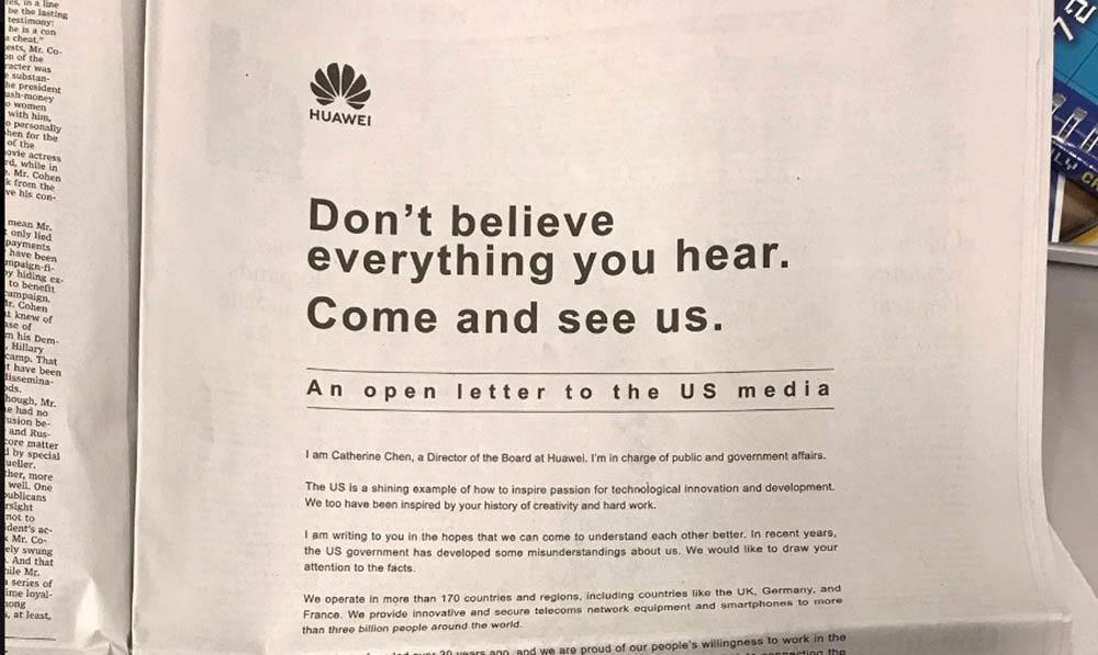 Wall Street Journal Huawei