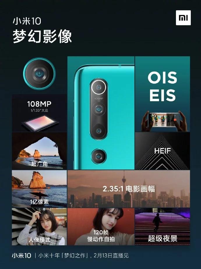 Xiaomi MI 10: confermate alcune specifiche tecniche
