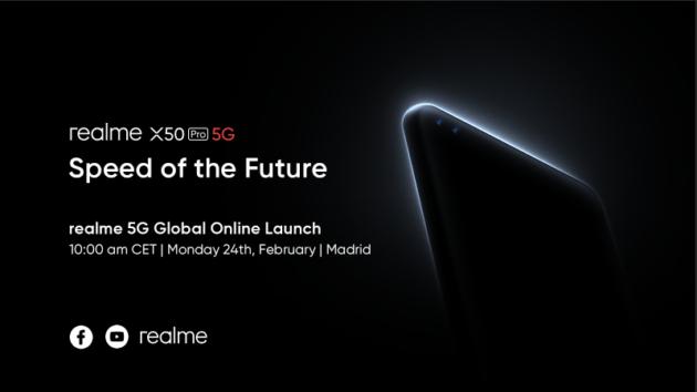 Realme presenterà il suo primo smartphone 5G in diretta streaming