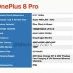 OnePlus 8 e 8 Pro: svelate le possibili schede tecniche