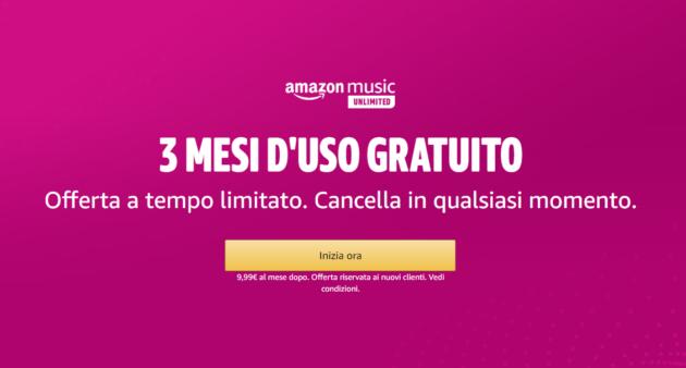 Amazon Music Unlimited: 3 mesi gratuiti con accesso a 50 milioni di brani e migliaia di playlist, anche offline