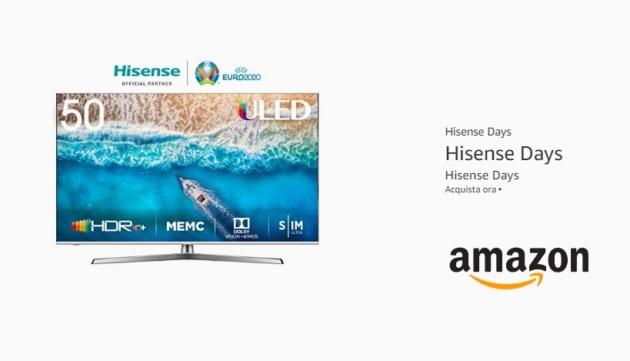 Partono gli Hisense Days su Amazon: tanti sconti su TV ed Elettrodomestici