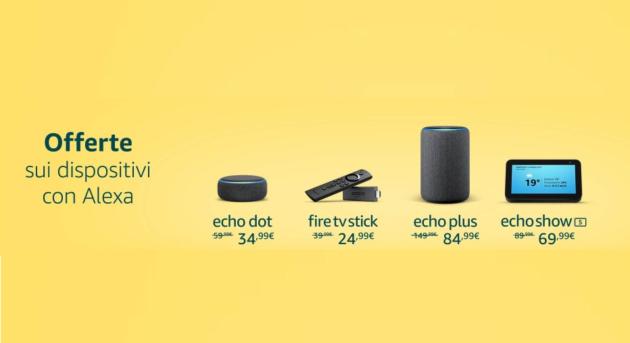 Dispositivi Amazon in offerta con il 35% di sconto