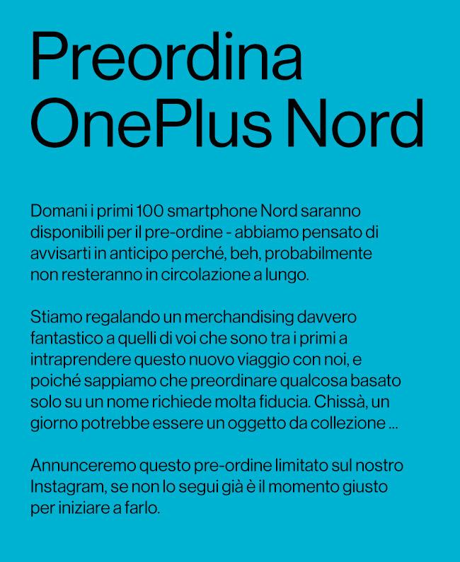 oneplus nord preordine