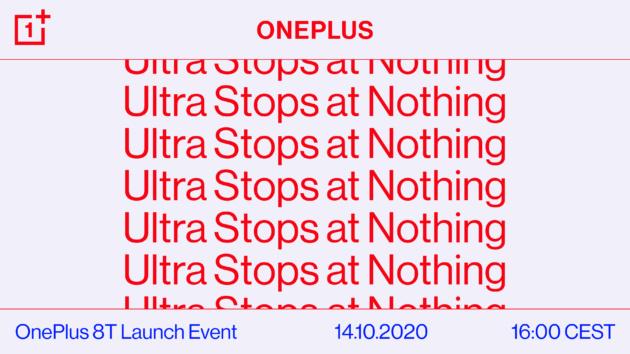 OnePlus 8T sarà presentato ufficialmente il 14 ottobre!