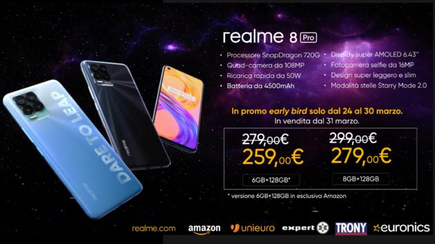 Realme 8 Pro: Ultime ore su Amazon per la super offerta lancio