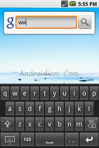 Primi screenshots di Cupcake, aggiornamento prossimo di android