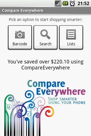 Risparmia soldi con Android e Compare EveryWhere