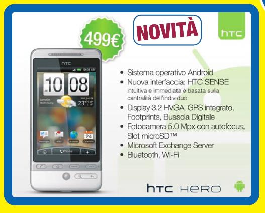 HTC Hero a 499€ da euronics