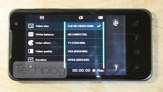 LG Optimus Dual, video di prova a 1080p