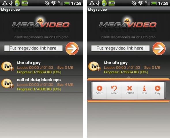 Megavideo per Android: scaricare e visualizzare i video di Megavideo!
