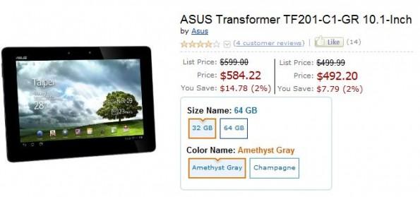 Asus Transformer Prime in pre-ordine su Amazon.com a partire da 499,99$