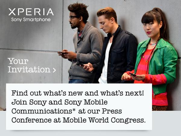 Conferenza stampa di Sony a Barcellona per presentare nuovi prodotti Xperia