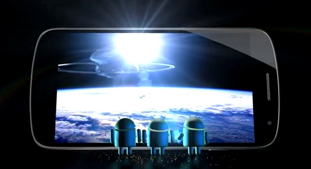 """Calling all Popcorn eaters"": Google esalta lo schermo del Galaxy Nexus"