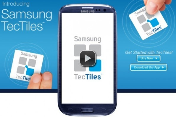 Samsung TecTiles: stickers adesivi per il controllo tramite NFC [UPDATE: Preview da Tecnophone e download APK]