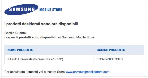 I primi accessori per Galaxy S III disponibili sul Samsung Mobile Store (Kit per auto)