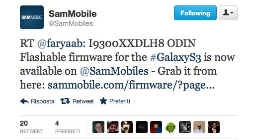 Nuovo aggiornamento Jelly Bean per il Galaxy S III - XXDLH8