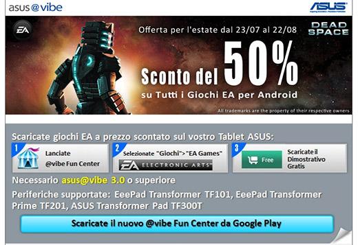 Giochi EA scontati del 50% sui tablet ASUS, ma bisogna fare attenzione