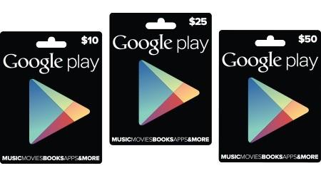 Google presenta ufficialmente le Gift Card per il Play Store