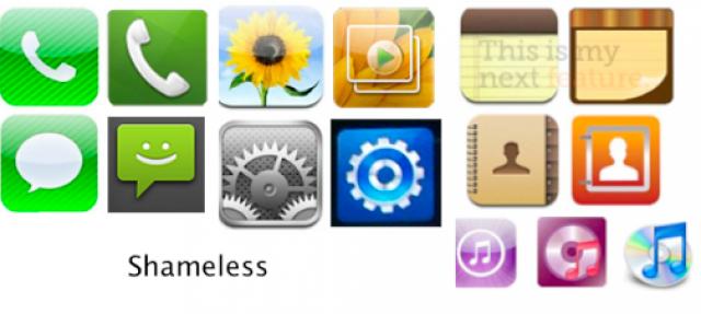 Samsung ha copiato anche le icone da Apple?