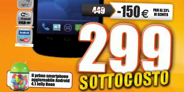 Nei Marcopolo di Lecce e Massa Galaxy Nexus scontati a 299€ dal 11 agosto