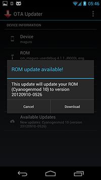 OTA Update Center : aggiornamenti automatici anche per le Custom ROM?