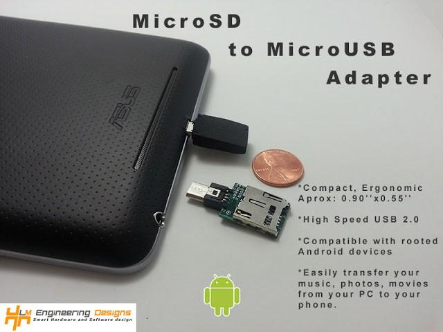 Nexus 7: adattatore microSD per ovviare alla mancanza dell'espansione di memoria